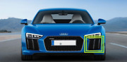 New Genuine Audi R8 16-18 Front Bumper N/s Left Air Guide Grill 4s0807683a3fz