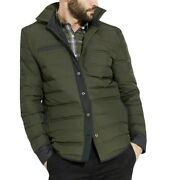 Victorinox Swiss Army Menand039s Framework Down Water Repellent Shirt Jacket - Olive