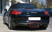 New Genuine Porsche Boxster S 13-16 Chrome Sport Exhaust Tail Pipes 98104420110