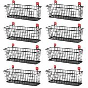 Rubbermaid Wall Mounted Storage Shed Small Wire Basket Tool Organizer 8 Pack