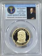 2008 - S John Quincy Adams Dollar - Pcgs Pr70dcam - The Presidential Series