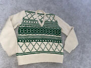 Knitting Needles Mary Hennessy Hand Made Wool Sweater Rare Vintage