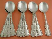 12 Sterling Whiting 6 3/4 Gumbo Soup Spoons Louis Xv 1891 W