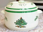 Vintage Spode Christmas Tree Round Covered Casserole Dish Imperial Cookware 3 Qt