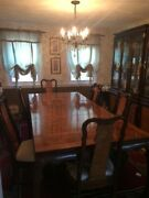 Dining Room Set With Hutch And Buffet. Asian-inspired Style. Excellent Condition
