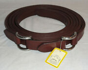 """Pair 83 1/2"""" Ideal Equestrian Leather Carriage Driving Cob Sz Roller Bolt Traces"""