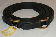 """Pair 76"""" Ideal Equestrian Leather Carriage Driving Pony Size Roller Bolt Traces"""