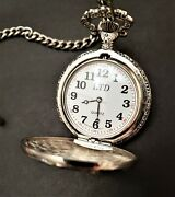 Milan Quartz Eagle Pocket Watch Japan Movt In Silver And Gold Color