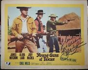 James Best Autograph Lobby Card With Coa Ride Lonesome 1959 Western Movie