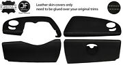 Grey Stitch 4 Piece Dashboard Trim Kit Leather Cover For Smart Roadster 452