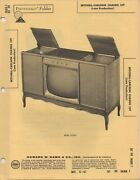 1962 Setchell Carlson 159 Television Service Manual Photofact Schematic Late Pro