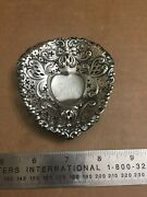 Antique Sterling Silver 4300 Footed Pierced Heart Shape Nut Candy Dish