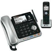 Atandt Tl86109 2 Line Connect Cell Bluetooth Corded Cordless Combo Phone System