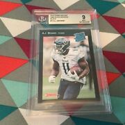 13 A J Brown Titans Rc Bgs Mint 9 Black 1/1 Made Rated Rookie Retro 2019 Panini
