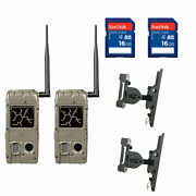 Cuddeback Power House Black Flash Trail Camera And 16gb Memory And Mount 2 Pack
