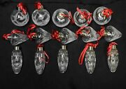 Lenox Lot 15 Ornaments 5 Of Each Balls Strawberry Balls And Small Icicles