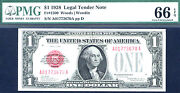 1928 1 Fr 1500 Small Size Us Note - Pcgs 65 Ppq-62 In This Grade