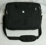 Dell Black Computer Laptop Bag Case Briefcase Carry On Luggage Good Used Cond.