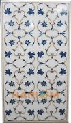 3and039x2and039 Hallway Marble Dinner Table Dining Inlay Top Lapis Marquetry Decor W246