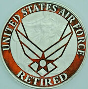 Air Force Retired - Limited Ed. Usaf American Silver Eagle 1oz .999 Silver Coin