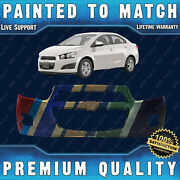 New Painted To Match Front Bumper Fascia For 2012-2016 Chevy Sonic Sedan And Hatch