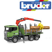 Bruder Scania R-series Timber Truck And Trunks Kids Forestry Model Toy Scale 116