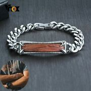Mans Bracelets Stainless Steel Rosewood Link Chain Punk Monster Claw Paw Jewelry