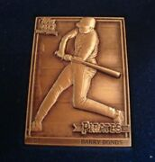 1991 Barry Bonds Marked Sterling Silver Pittsburgh Pirates Topps Not/aluminum