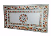 4and039x3and039 Dining Hakik Stone Marble Top Semi Precious Inlaid Conference Table W334