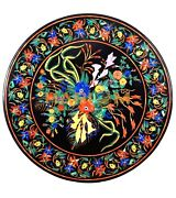 42 Marble Dining Table Top Multi Floral Marquetry Inlay Interior Decors B229a