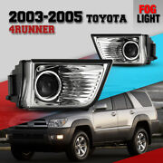 Fog Light For 03-05 Toyota 4runner Clear Lens Projector Driving Lamp Replacement