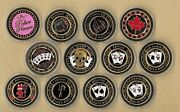 Lot Of 12 Wsop Poker Chip Card Guard Protector Coin 24 Kt Gold Wsop