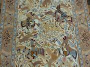 New 500+kpsi Silk And Wool Handmade 3and0399x5and0397 Hunting Oriental Authentic Rug
