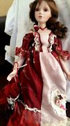 Victorian Beautiful Lady Porcelain Doll Limited Edition 120 Collectible 1820