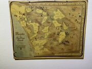 Rare Map Ranchos Of San Diego County With Historic Routes And Points Of Interest