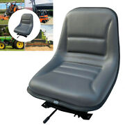 Universal Forklift Tractor Seat Replacement W/ Sliding Track Fits Most Brands Us