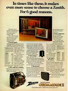 1975 Zenith Solid State Chromacolor Ii Television Sf2569p Sf1750r Tv Print Ad