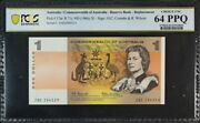 1966 1 Note Star Note Coombs/wilson R71s Pcgs Choice Unc 64 Ppq