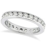 1.5ct Channel Diamond Eternity Ring Band 14k White Gold