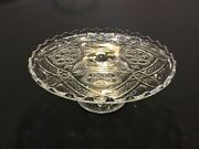 Antique Cake Stand By Indiana Glass Company In The Rayed Flower 132 Pattern