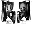 Chevy Pickup Truck Inner Kick Panel Set Left And Right 1955-1959