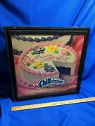 Dairy Queen Light Up Advertising Sign Birthday Cake Chillabration Vtg Rare Works