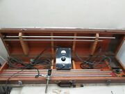 Vintage Medical Acmi Cystoscope Endo Electric Wappler Wooden Carry Box Acc