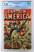 Captain America Comics 33 - Cgc 1.5 Fr/gd - Timely 1943 - Human Torch Story