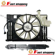 Fit 2014 2015 2016 Toyota Corolla Single Radiator Condenser Cooling Fan Assembly