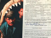 Robert Shaw Jaws Signed Contract And Photo 1975 - Ultra Rare