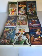 Disney Black Diamond Vhs Lot Of 9 Beauty And The Beast Snow White Toy Story