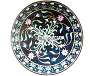 Marble Corner Table Top Floral Design Inlay Art Marquetry Indian Decorated H3229