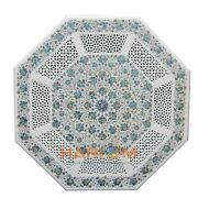 30 Marble Octagon Coffee Table Top Inlay Design Pauashelll Marquetry Decor W214