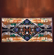 Black Marble Dining Top Table Multi Marquetry Italian Inlay Arts Decorated H3677